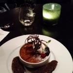 Dark Cherry Creme Brulee with Biscotti