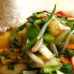 Ginger vegetables with Tofu