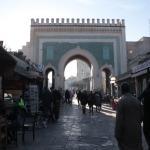 La Puerta Azul o Bab Boujloud, la entrada principal a la Medina, muy cerca del Riad