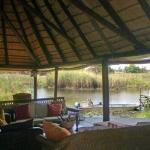 The view from the lounge at the lodge.
