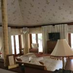 Inside tented room