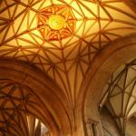Picture of the beautiful ceiling in the Abbey
