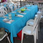 Attractive table setting for group