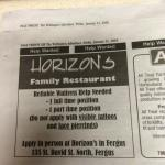 This restaurant discriminates and violate s15 of the Charter