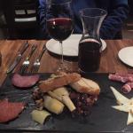 Delicious wine and Antipasto!