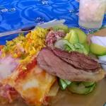 O almoço....