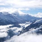 Skigebiet mit Blick auf Vorderlanersbach.