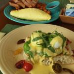 Omelet and Eggs Benedict
