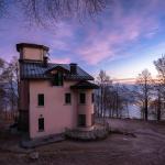 Villa Pizzini con il lago Maggiore sullo sfondo