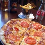 Delicious pizza we enjoyed at the bar of the Radisson Blu.