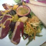 Jambon et achard de légumes