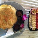 Pancake&fruit plate