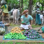 Vegetable Market depicted through scultpures