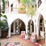 The pretty decorated little patio at Riad Quara.