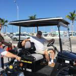 not just scooters. we rented a golf cart also