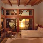 Beach House bedroom at sunset