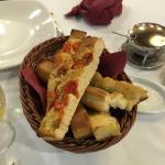 Risotto chorizo et pain maison