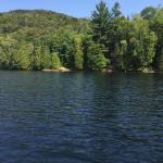 View from our boat of Lake Placid