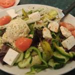 Jessie's Mediterrainen Salad W Potato salad and Feta YUM!!