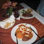 Dinner at the restaurant: chiles rellenos & steak - both excellent.