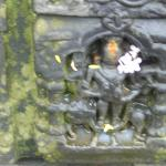 sculpture in the wall of shiva temple