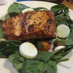 Color of Money Salad with Grilled Salmon