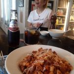 Huge portions (pasta + lamb ragu) and friendly bartender!