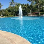 Cool blue at north end of long Mayan Palace pools!