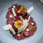 Organic beef carparccio