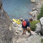 """Kayak to Fannette island,  scramble to the teahouse on top and enjoy the view from the """"window"""""""