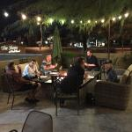 Awesome patio and great food and bar area