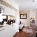 One Bedroom Deluxe Kitchen & Living