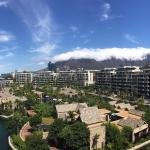 Great view of the hotel grounds and Table Mountain with cloud