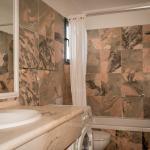 Marble-tiled bathroom