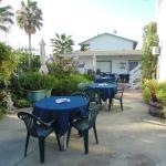 breakfast pool side in our beautiful courtyard
