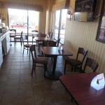 Breakfast area is left unkempt, tables not wiped and floors not swept.