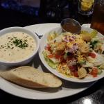New England Clam Chowder and House Salad