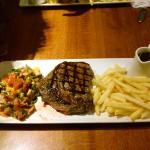 Hubby's steak
