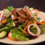 Garden salad with JD steak