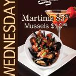 Wednesday specials-Mussels and martinis