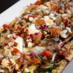 Vegetarian flat bread appetizer