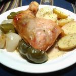Delicioso pollo al horno