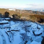 雪の石段街(撮影1月22日頃)