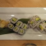 Sushi appetizer: Cucumber and Avocado Rolls