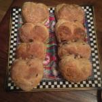 Homemade scones on arrival