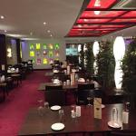 the restaurant with new design and red light