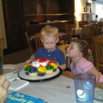 Birthday party at Pizza Plus.