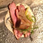 Duck - one of the first courses from the Taster Menu