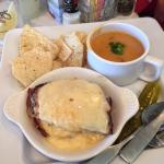 Baked Ham & Swiss with Chicken Tortilla Soup