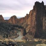 Smith Rock in all of its natural grandeur